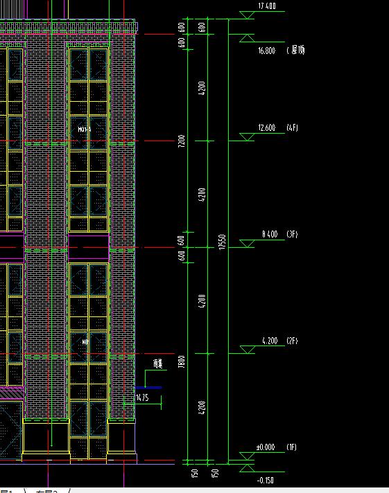 广联达工程设置时檐口高度应为,求老师指图纸砖标工程图片