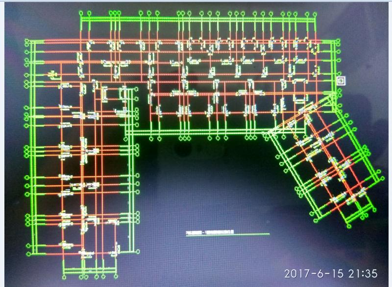 图一是cad轴网,图二是我识别的轴网,识别西湖户型图纸华府图片