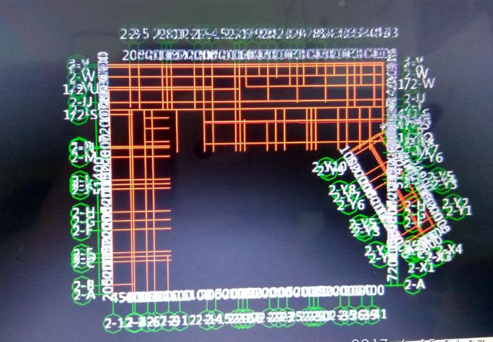 图一是cad轴网,图二是我识别的轴网,识别表格下载图纸会审公路微盘图片