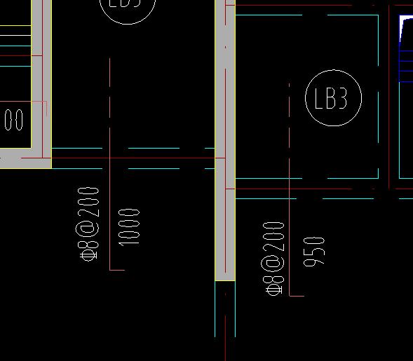 图纸结构一端负筋结构画的虚线代表含义图纸中板说明图片