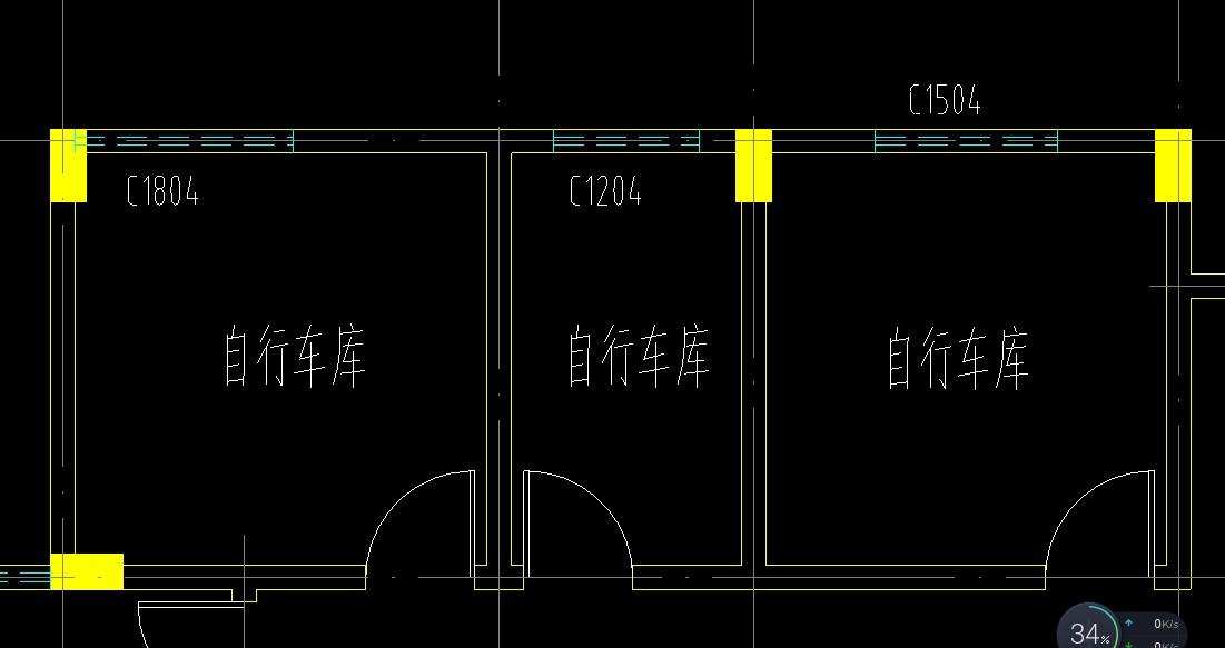 cad图显示柱的部分保存不全,浩辰cad导入的文家园东洲b图纸户型图片