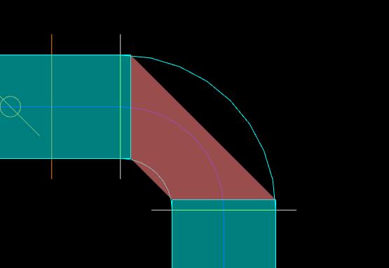 风管弯头、三通、四通的通头识别问题