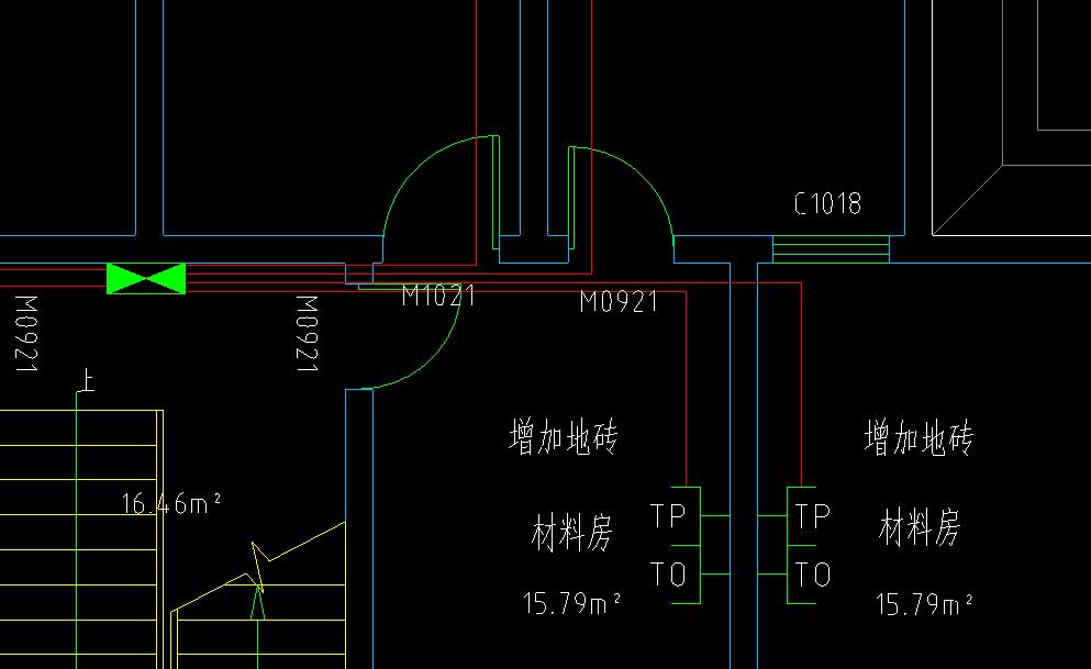 带压槽的窗户平面图