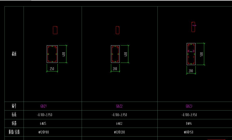 GTJ2018CAD导图识别柱表这样的柱子一装系统苹果cad免费软件图片