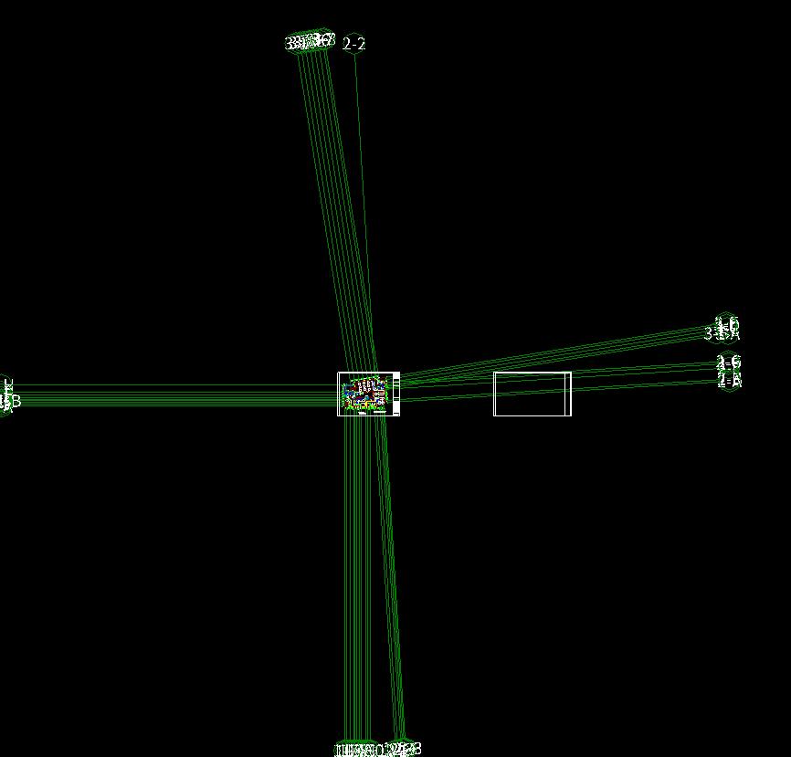 cad图纸识别广联达算量软件,识别平面,导入完消防审图纸轴线图片