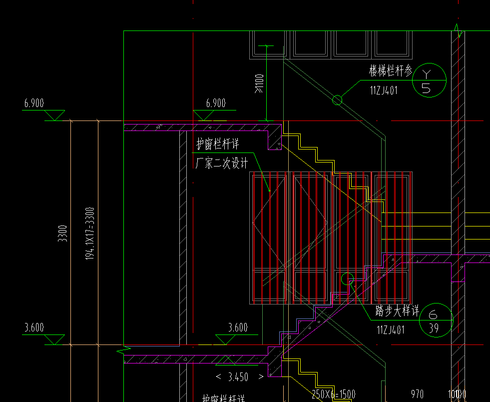求助,转角楼梯无平台的土建图形怎么画