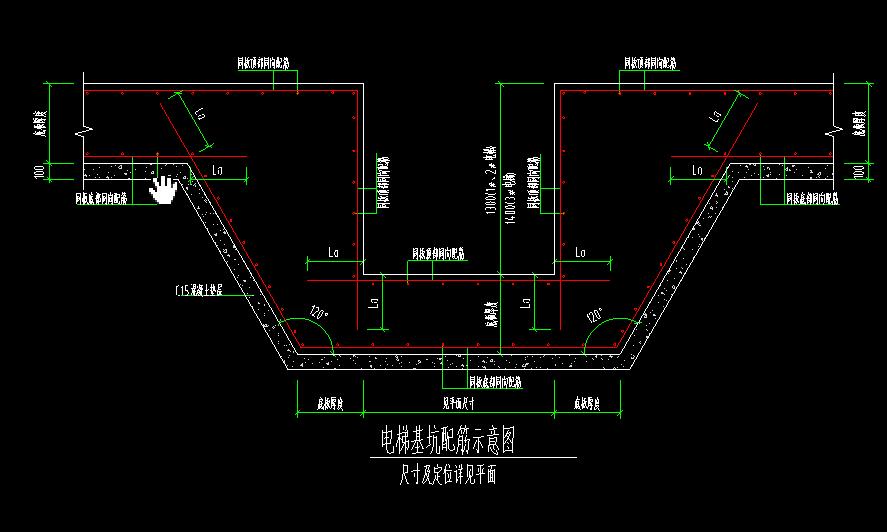 排水沟用什么画图?电梯基坑可以用集水坑画么?图片