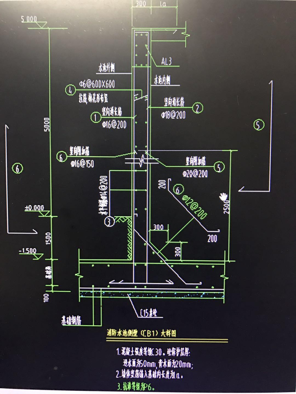 图中的DQ是地圈梁还是挡墙?、CB是侧壁吗?