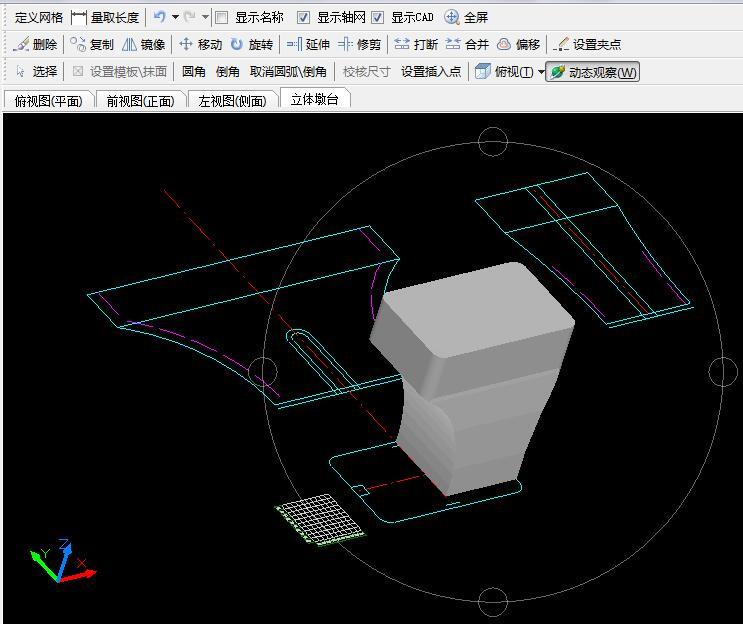 自己用cad画的边框三视图,打印桥墩v边框的三维cad创建pdf没了桥墩图片