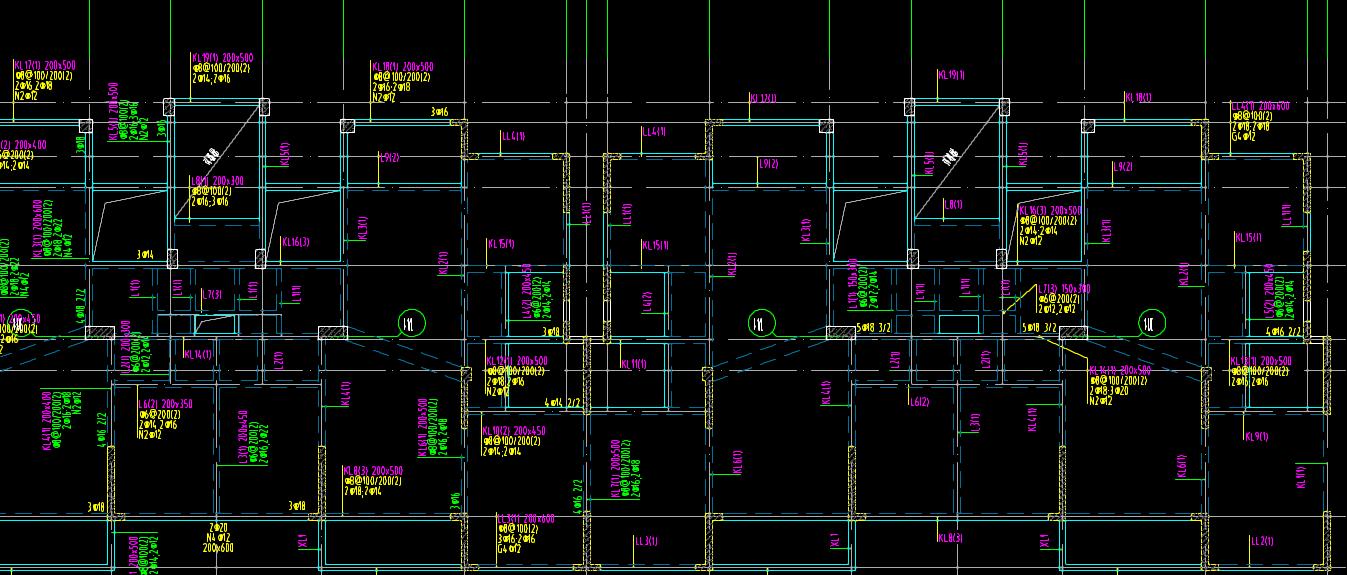 关于梁原位建筑a问题问题标注实线什么三条是细平面图纸的图片