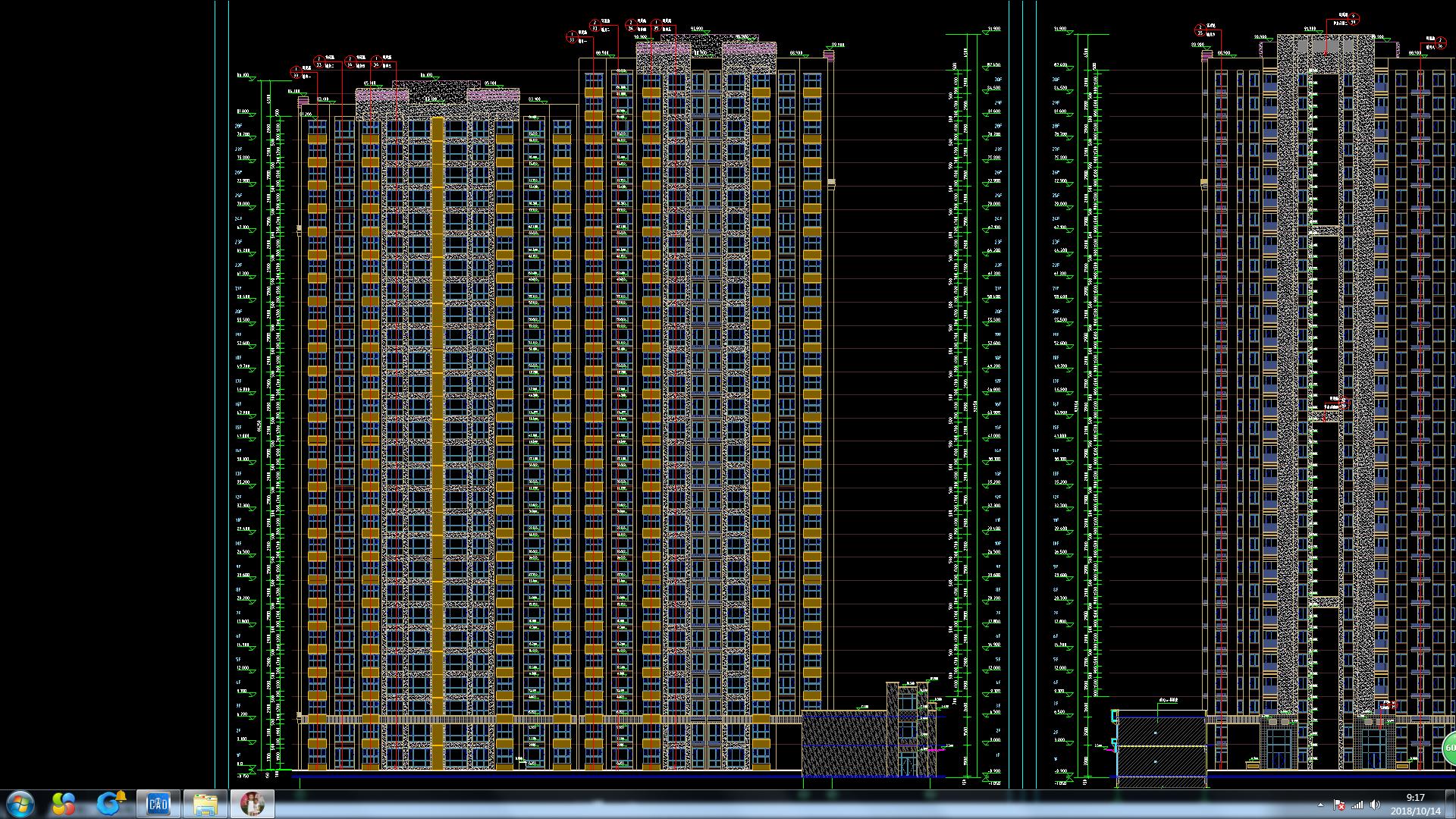 像我这一栋楼的图纸高度改按算设计师檐口图森图片