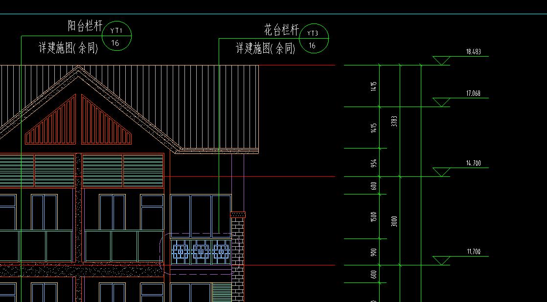 坡高度图纸檐口是算到激光切割+工艺品cad+屋面下载图片