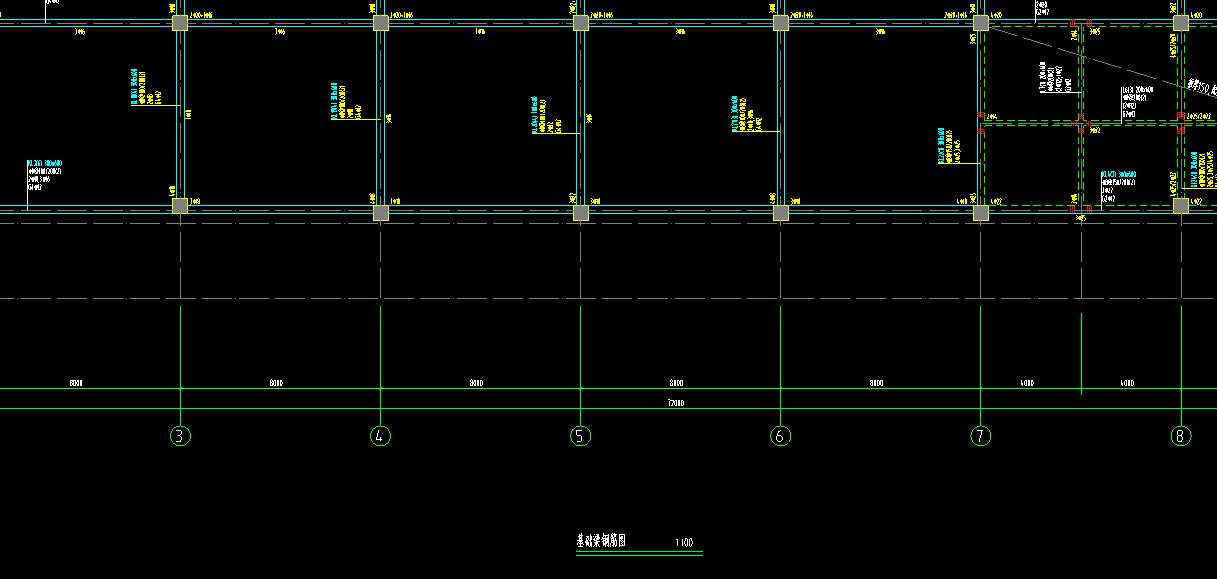 下图基础梁和框架梁的区别