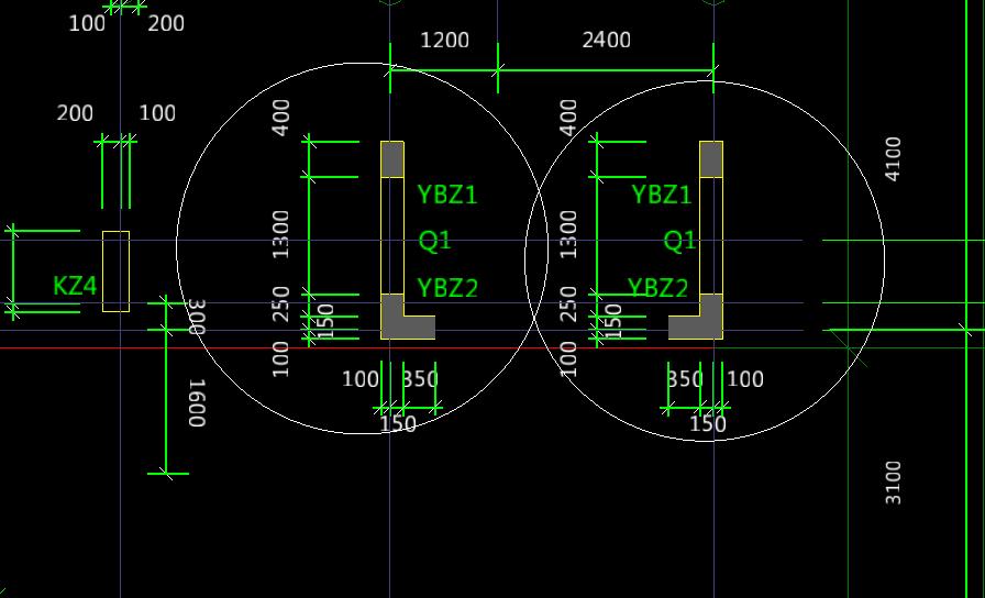 请问一下让导入的CAD柱子中的图纸颜色十字军图纸v柱子能么图片