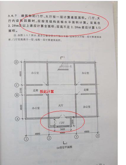 住宅楼进户门外门厅 有柱 梁 坡屋顶 是否计算建筑面积