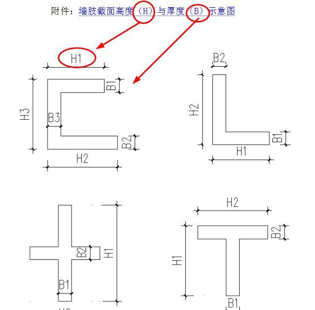 短枝剪力墙的截面高度如何算-广联达服务新干线-答疑