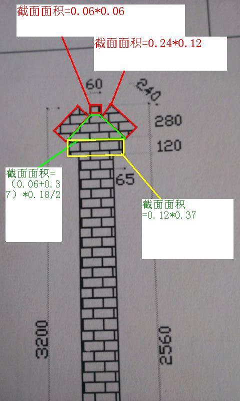 砖砌围墙顶部造型如图应该怎样计算-广联达服务新