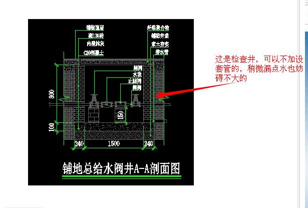 设计未说明时,给水管道穿过总给水阀井时需不需要设置