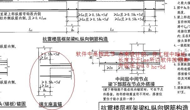 框梁在剪力墙的锚固长度在有长暗柱的情况下