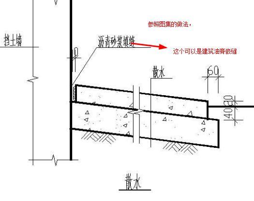 散水要求每6m设置一道变形缝