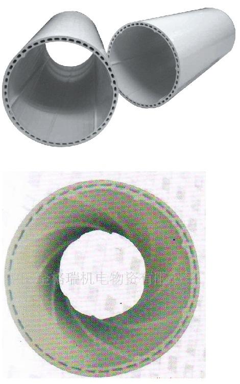 XD UPVC中空螺旋排水管和中空隔音管区别