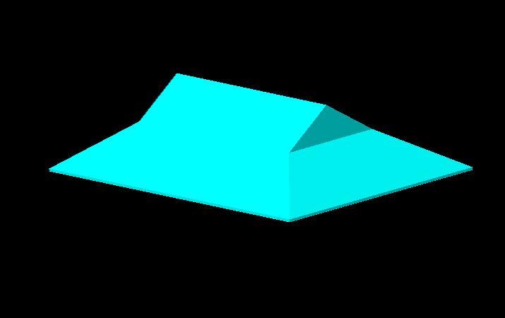 四面三角形茶包装盒设计展开图