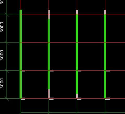 剪力墙结构上部框梁端部是画到3处画