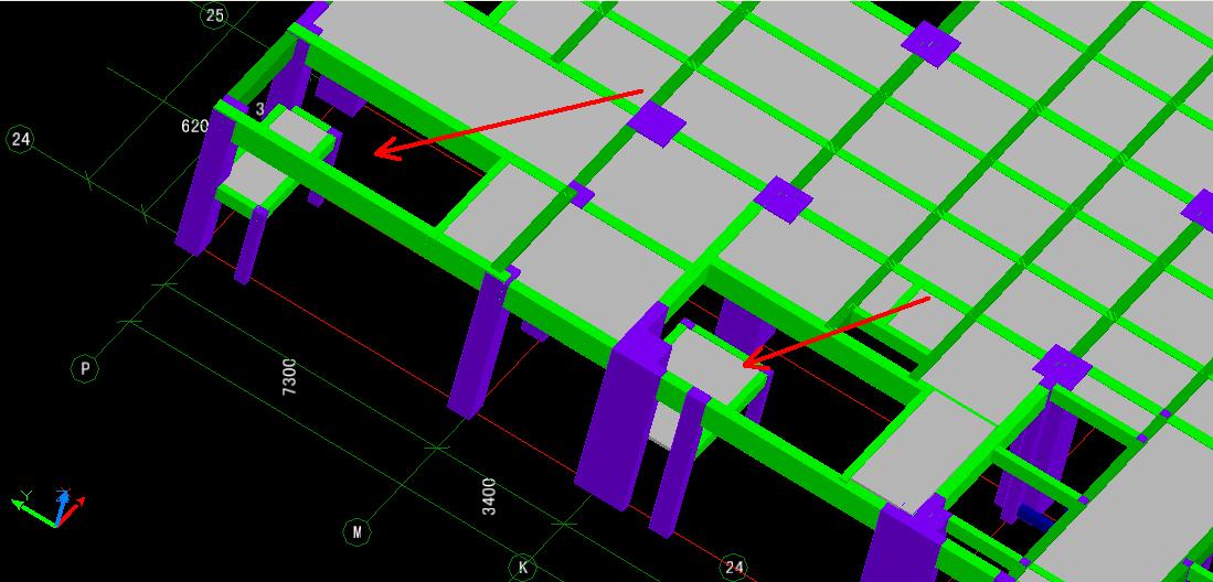 三段式楼梯钢筋重叠问题?图片
