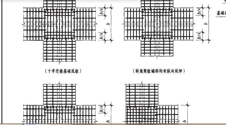 斜交条形基础钢筋布置图片