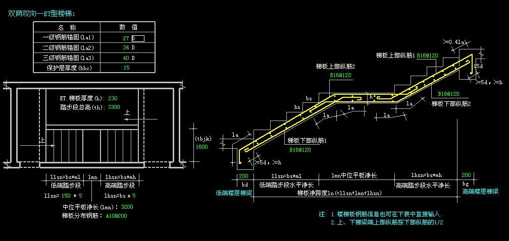 楼梯剖面图画图步骤