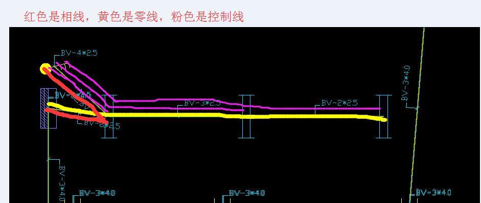 图是接线原理图,算量就是一根管穿起来就可以了