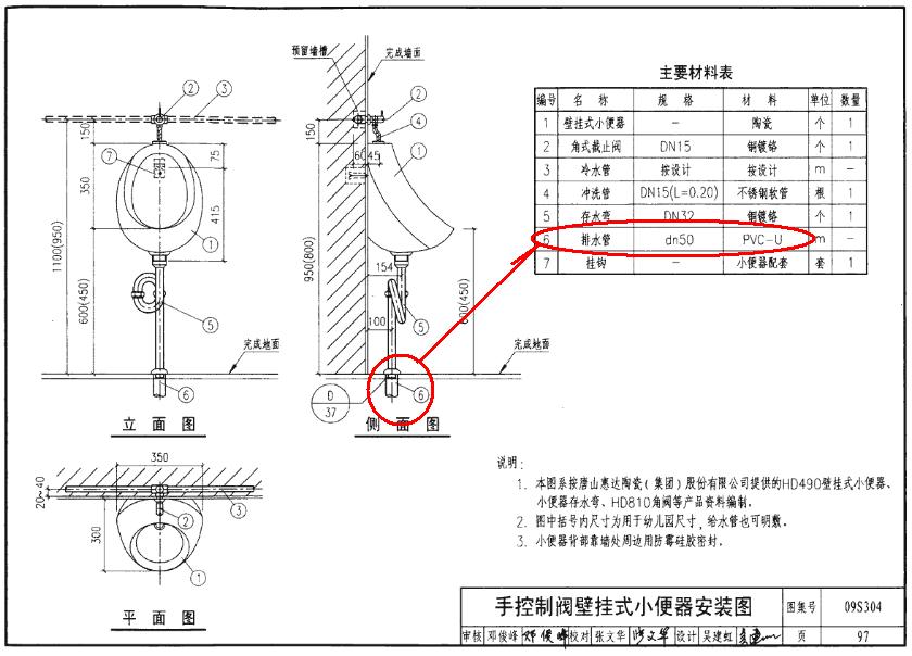 卫生间排水管小便器大便器的小立管?-广联达服务新
