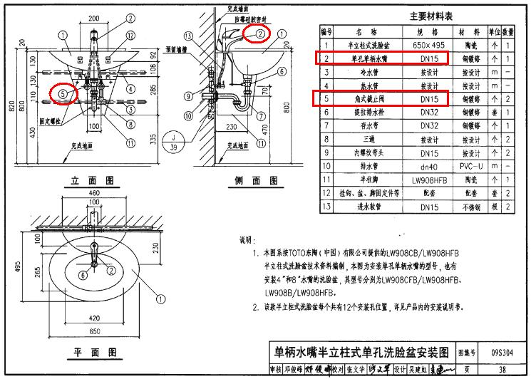 分支出的水龙头管或蹲便器给水直管管径没有明确