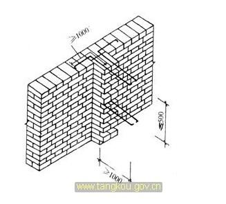 砌体加筋的长度1m是从构造柱中; 构造柱图集_装装修; 框架结构构造柱图片