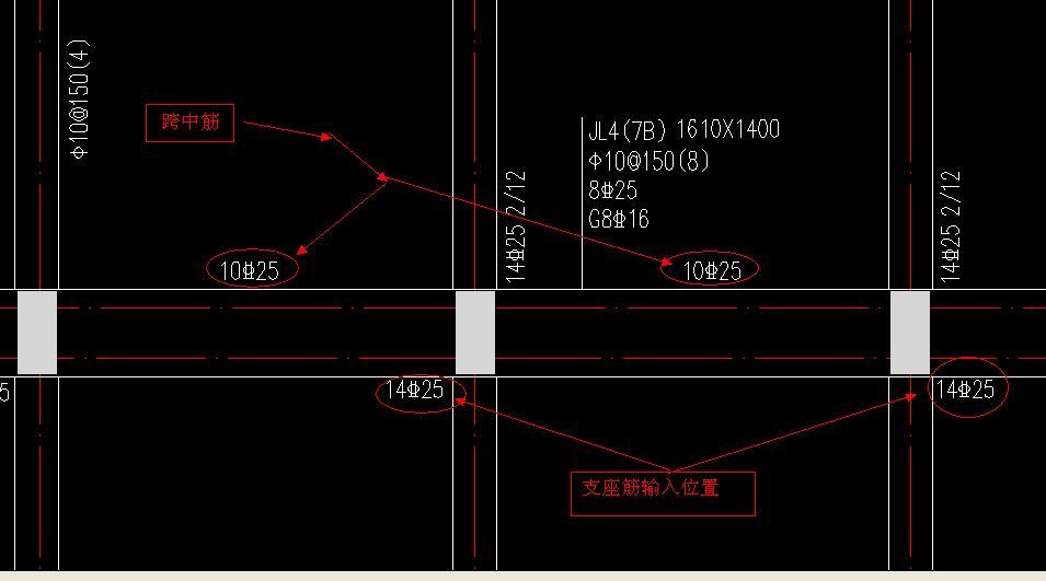 筏板基础里支座梁标注?跨中筋和左右图纸立体生日贺卡基础图片