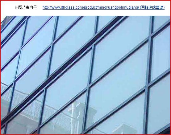 铝合金玻璃幕墙分明框 半隐框,隐框,全隐框,他们之间的区别