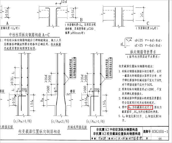 钢筋平法标注图集_钢筋平法图集03G101-1-钢筋平法图集03G101-1下载
