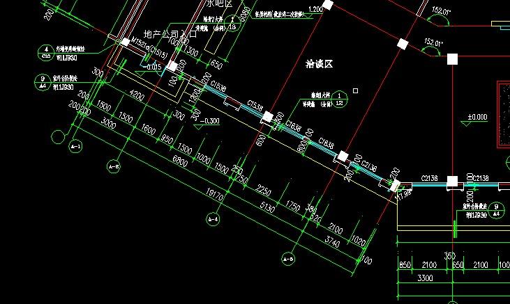 大全算量中CAD导图识别轴网显示不出图纸符号钢筋配电室图片