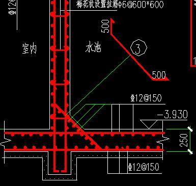 墙的钢筋布置图_剪力墙钢筋与框架柱钢筋如何布置