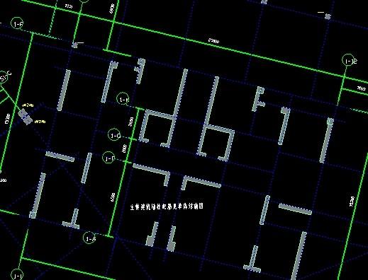 我导入CAD图后,出来识别的轴网的图纸标识标注图片