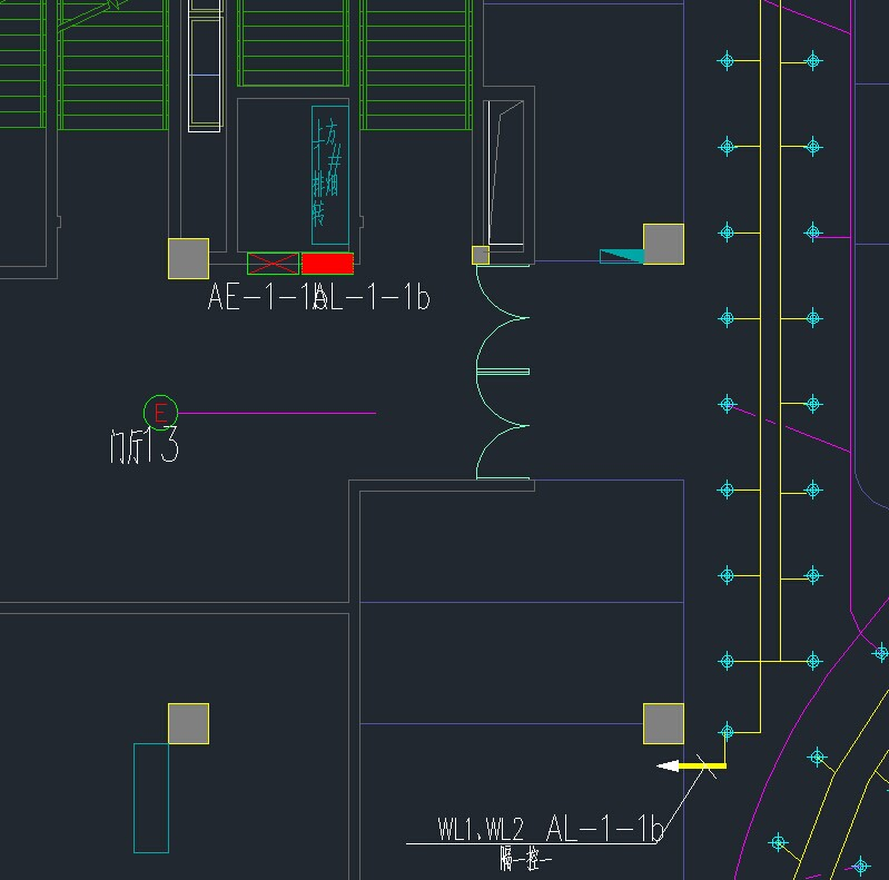 CAD背景中布局图纸计算cad电气图纸管线图片