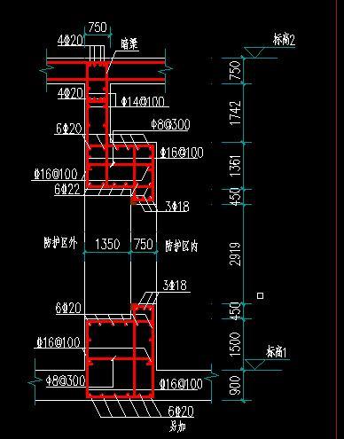 请教哪位看懂下人防面的彩电图纸,其中的字创维NF880025图纸门框图片