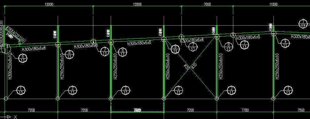 单榀重量小于1t是钢屋架否则为钢桁架,可是下面图怎样算是单榀呢