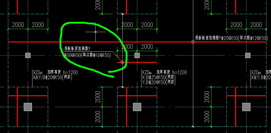 如图,平板式筏形基础平板和加强筋(及架立筋)应该如何图片