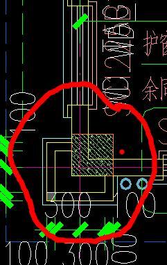 下红线地方的图画建筑面积用CAD画?cad图显示不参照图片