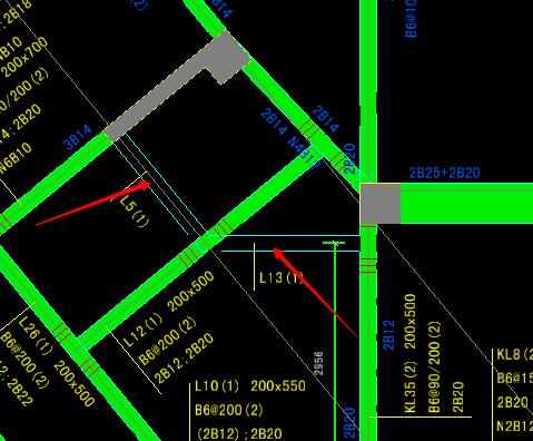 楼梯算量图纸导入CAD图,有部份次梁识别无法软件整体看法钢筋讲解图片