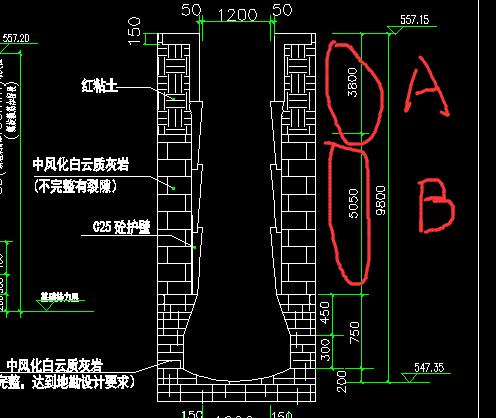广联达桩参数图集护壁桩4参数B(松次坚石厚度