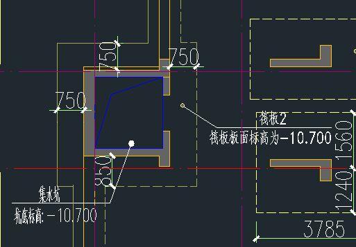 关于筏板基础与抗水板图形自相交问题图片