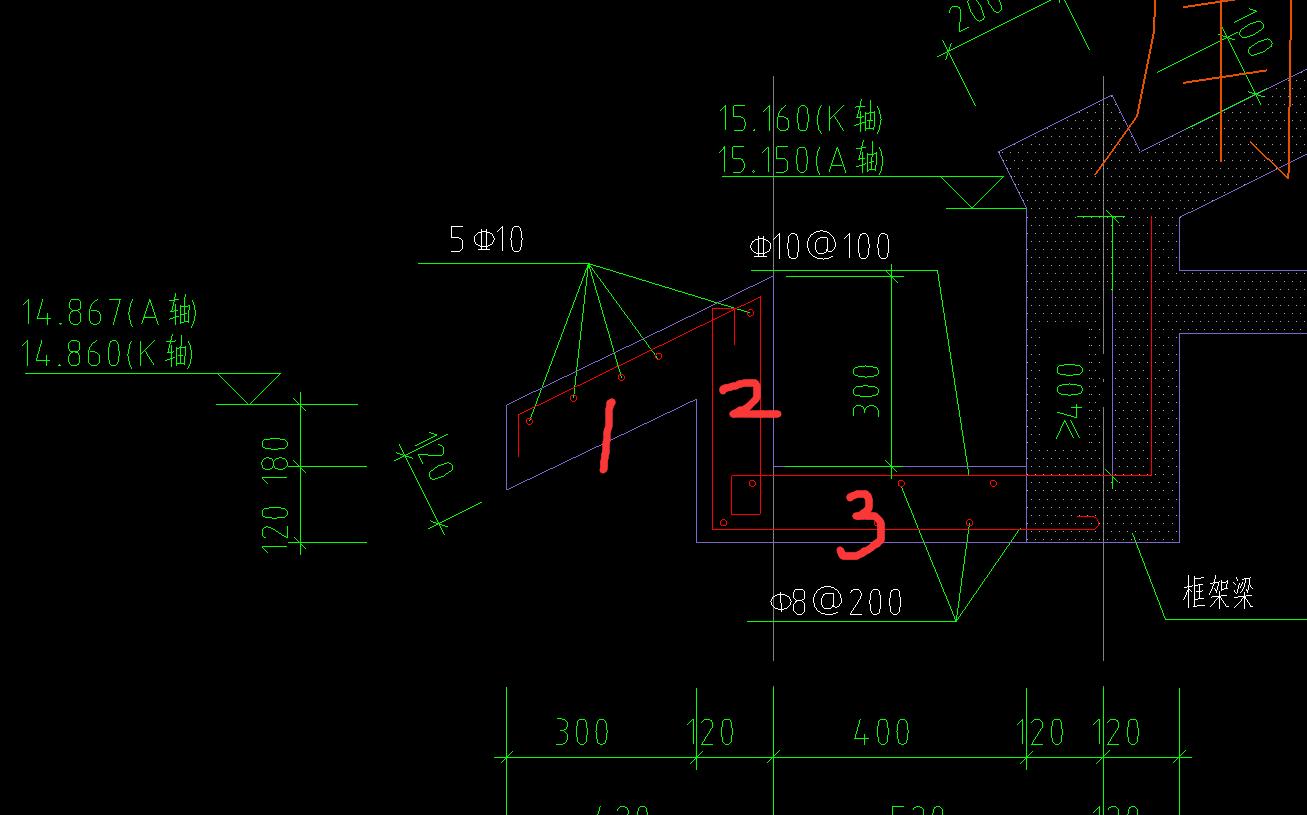 挑檐计算哪部分体积-广联达服务新干线-答疑解惑