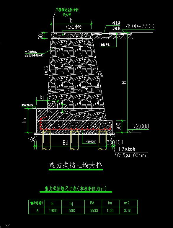 重力式挡土墙工程量计算图片